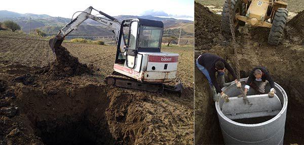 Fossa imhoff pozzo disperdente e impianto di sub for Fossa biologica a dispersione